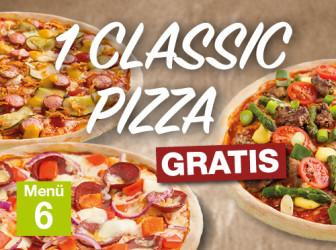 Menü 6 - Classic Pizza gratis