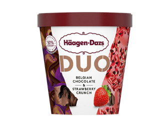 Häagen-Dazs DUO Belgian Chocolate & Strawberry Crunch_420ML