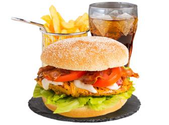 Caesar Chicken Burgermenü