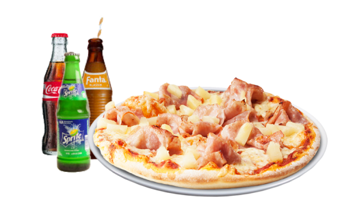 Pizza Hawaii Solo + Softdrink<sup>A,K,G,P,V,F</sup>