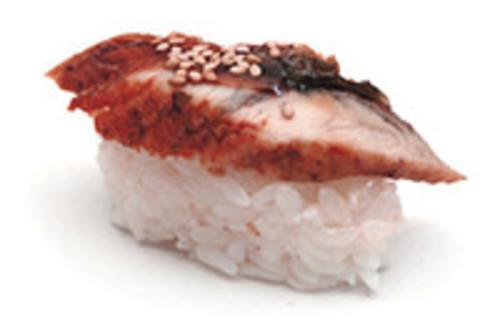 Unagi Nigiri mit mariniertem, gegrilltem Aal