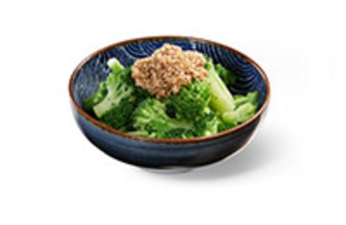 Brokkoli Gomae Beilage Blanchierte Brokkoliröschen mit Sesamsauce