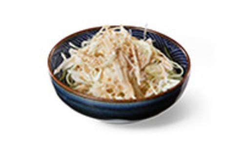 Weißkohl, fein geschnitten mit Creamy-Sesamdressing Beilage