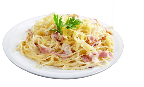 Spaghetti mit Carbonarasauce<sup>F,A,K</sup>