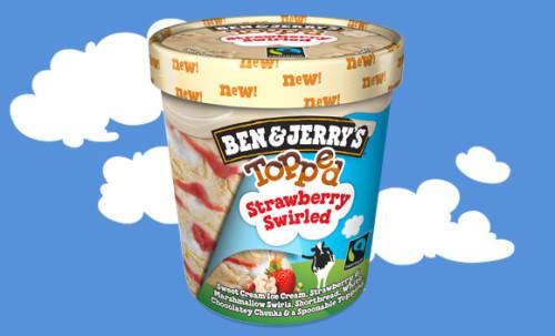 Ben & Jerry's Topped Strawberry Swirled 470ml