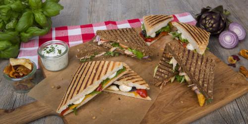 Grilled Pulled Pork Barbeque Sandwich