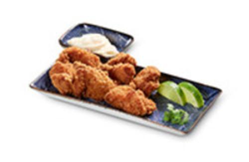 Torikatsu als Hauptgericht mit Beilagen