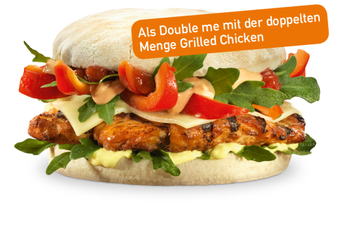 Grilled Chicken Deluxe Double me