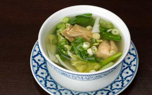 Won-Ton Suppe mit Poulet