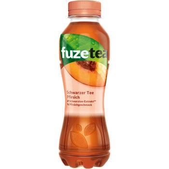 Fuze Tea Pfirsich Schwarzer Tee mit Pfirsich Geschmack 0,4l