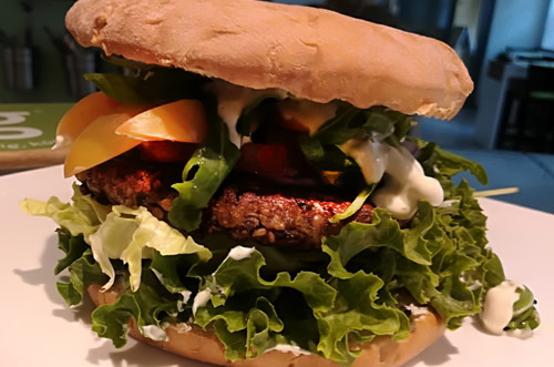 Burger mit Bun