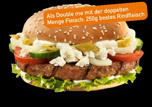 Griechischer Burger Double me