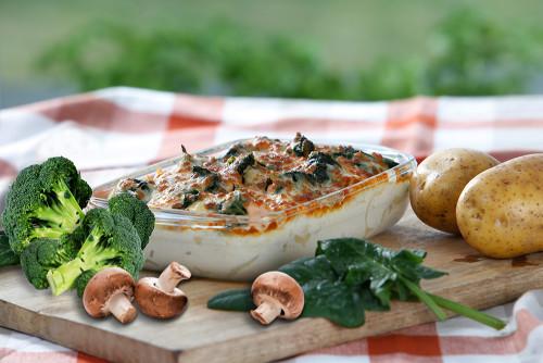 Champignons-Spinat-Broccoli