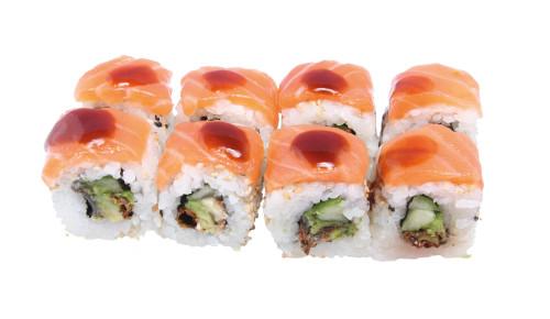 8 Stk. Salmon Skin Rolls