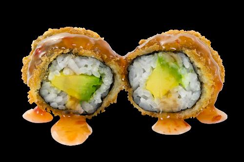 Mini Yoko Roll Avocado mit Sweet Chili Sauce - 8 Stück