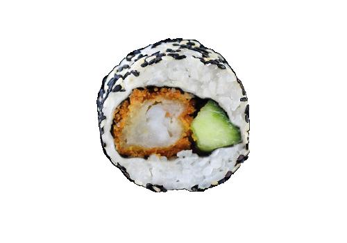 Inside Out Rolls frittierte Crunch Tempura Gurke (82a)