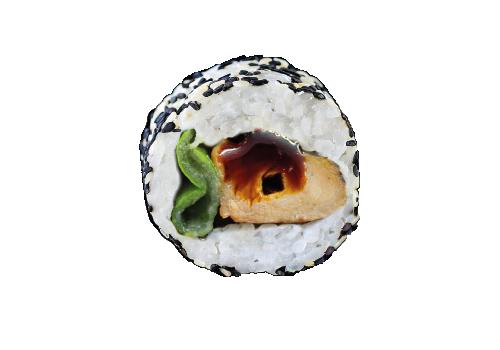 Inside Out Rolls Yakitori Frühling Chicken mit Yakitori (84)