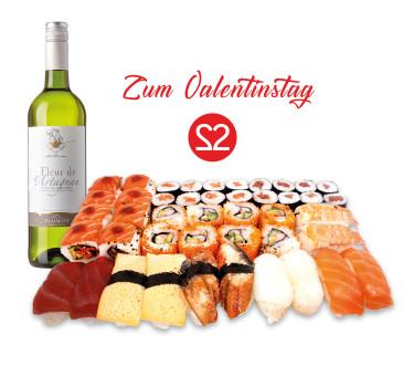 Sushi Box 85  Sendal (44 Stk) & 1 Fl. Weißwein