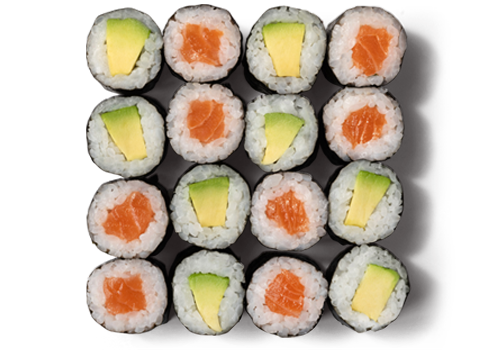 Maki Mix Lachs Avocado Groß