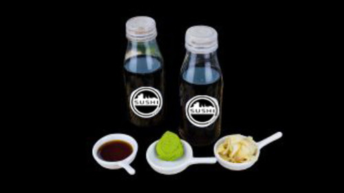 E6a - Selbstgekochte Sushi Bonn Soja-Sauce in der 0,2l-Flasche