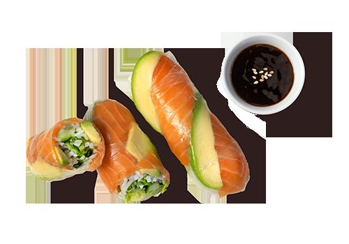 Sommerrolle Salmon Avocado