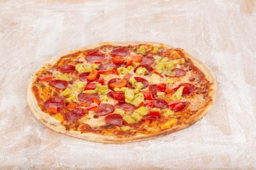 Pizza Diavola 60x40cm