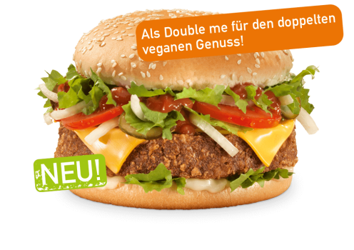 veganer Cheese Burger Double me