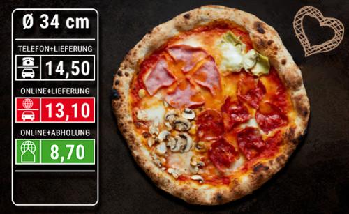 Pizza Quattro Stagioni Ø 34cm