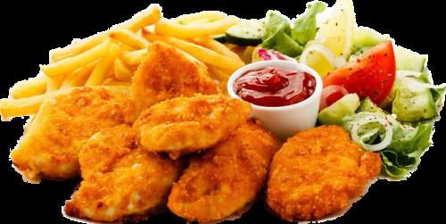 Chicken Nuggets Teller 10 Stück