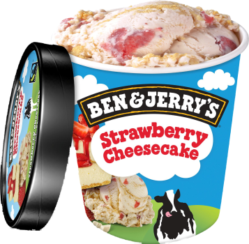 Ben & Jerry's Strawberry Cheesecake [100]