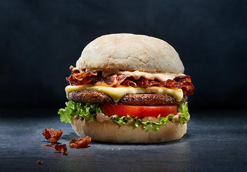 Burger Käse-Speck
