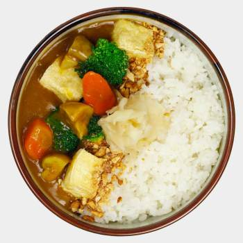 Tofu Curry Don groß