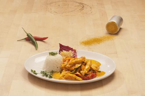 Thaicurry mit Hühnerfleisch