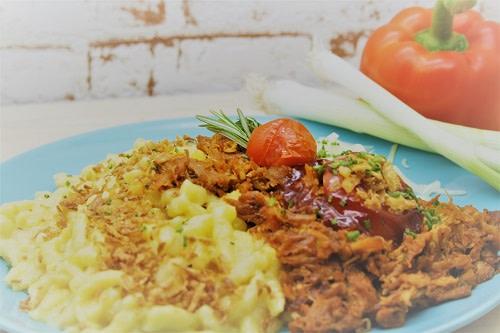 Pulled Pork BBQ + Käsespätzle