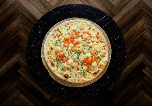 Pizza Gamberetti (Pizza Bianca)