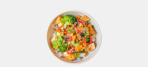 Spicy Veggie Chicken Bowl