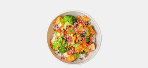 Spicy Veggie Chicken Bowl