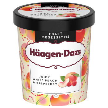 Häagen D. Eis White Peach & Raspberry