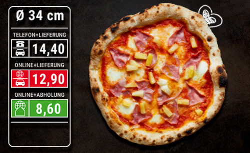 Pizza Hawaiiana Ø 34cm