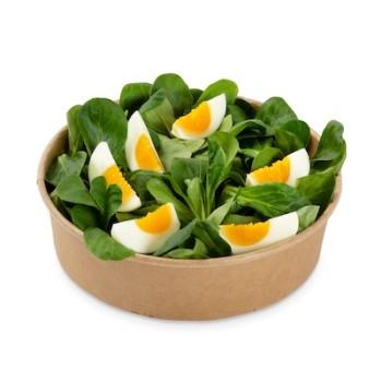 Nüsslisalat mit Ei ohne Dressing