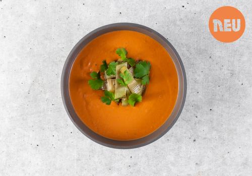 Pikante Tomaten-Kokos Suppe