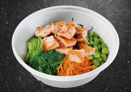 Poké Bowl grilled Salmon