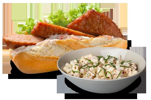 Combi Broodje met Pastasalade