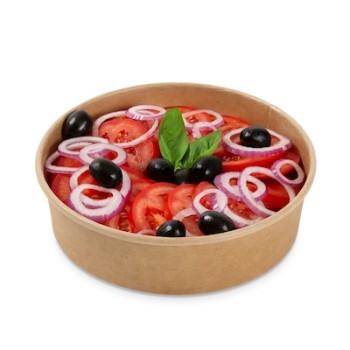 Tomatensalat mit Zwiebeln ohne Dressing
