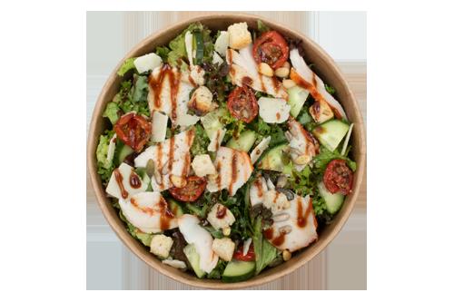 Salade gekruide kip