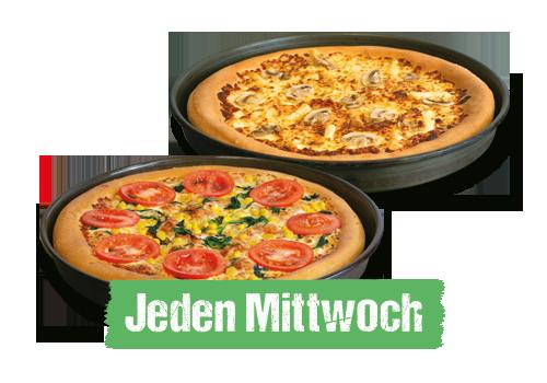 1 Pizza Gratis Cheezy Crust 19,90