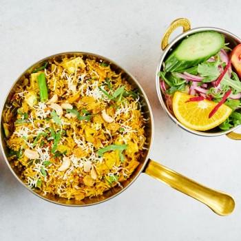 Amrit Tawa Biryani mit frischem Gemüse