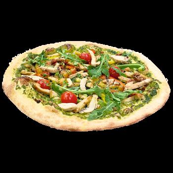 50er Pizza Pollo con Pesto