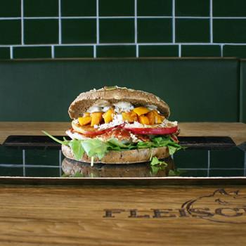 Apfel - Kürbis Burger