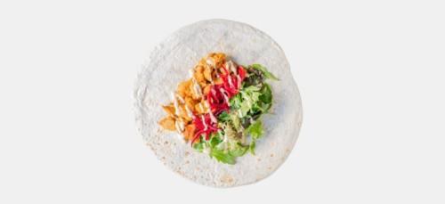 Veggie Caesar Chicken Wrap
